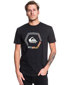 BLACK MENS CLOTHING QUIKSILVER TEES - EQYZT05475-KVJ0