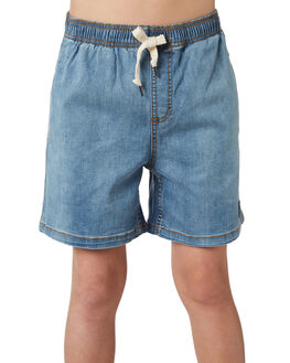 THRIFTED BLUE KIDS BOYS RUSTY SHORTS - WKB0295THB