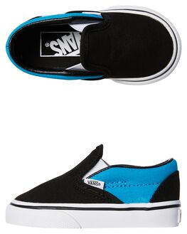 BLACK VIVID BLUE KIDS TODDLER BOYS VANS FOOTWEAR - VNA32QJ3M8BLK