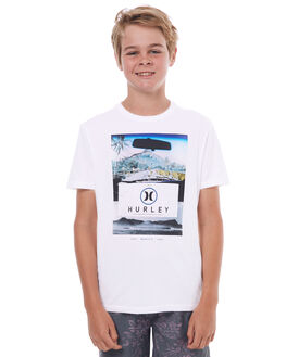 WHITE KIDS BOYS HURLEY TEES - ABTSLCKD10A