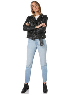 BLACK LEATHER WOMENS CLOTHING NEUW JACKETS - 37926-783