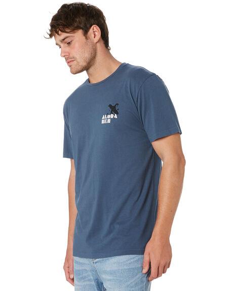 VINTAGE BLUE MENS CLOTHING ALOHA ZEN TEES - ALZCOLDNOSEVNBLU