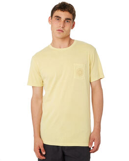SUNBLEACHED YELLOW MENS CLOTHING RHYTHM TEES - OCT18M-PT02-YEL