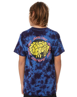 BLUE TIE DYE KIDS BOYS SANTA CRUZ TOPS - SC-YTD9265BLUTD
