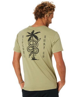 WASHED OLIVE MENS CLOTHING RIP CURL TEES - CTEOH29591