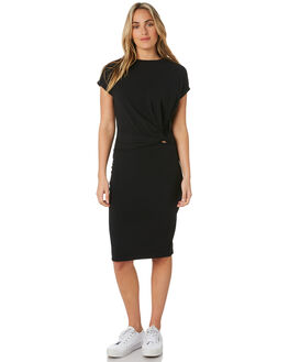 BLACK WOMENS CLOTHING SILENT THEORY DRESSES - 6053043BLK