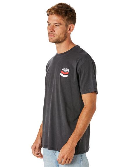 VINTAGE BLACK MENS CLOTHING THRILLS TEES - TS8-135VBVNBLK
