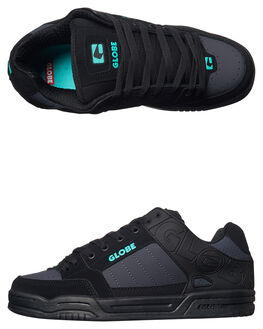 BLACK EBONY TEAL MENS FOOTWEAR GLOBE SNEAKERS - GBTILT-20284