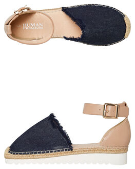NUDE LEATHER OUTLET WOMENS HUMAN FOOTWEAR FLATS - PROTEUSNLTR