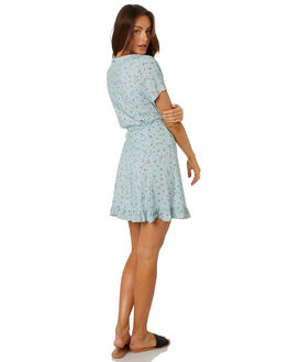PALE AQUA WOMENS CLOTHING RUSTY DRESSES - DRL1030PAA