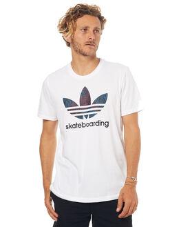 WHITE MENS CLOTHING ADIDAS ORIGINALS TEES - BR4999WHT