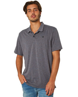 DARK CHAR HEATHER MENS CLOTHING HURLEY SHIRTS - AR7114045
