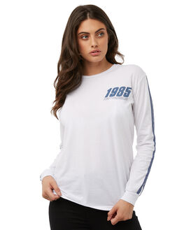 WHITE WOMENS CLOTHING RUSTY TEES - TTL0924WHT
