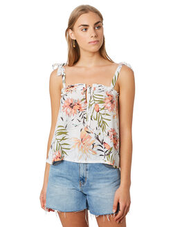 WHITE WOMENS CLOTHING RIP CURL FASHION TOPS - GSHFZ11000
