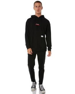 BLACK MENS CLOTHING STUSSY JUMPERS - ST085109BLK