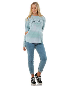 WHITE WOMENS CLOTHING HURLEY TEES - AGTLLTYP10A