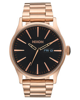 ALL ROSE GOLD BLACK MENS ACCESSORIES NIXON WATCHES - A3561932