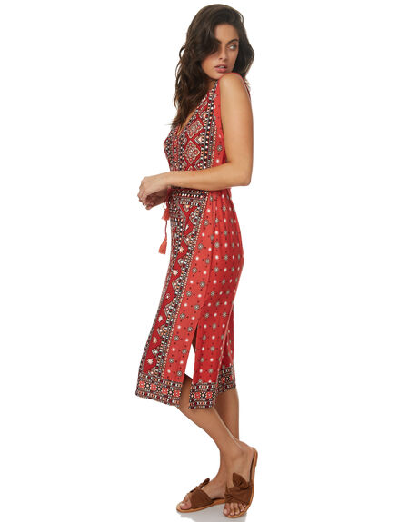 RUST RED WOMENS CLOTHING TIGERLILY DRESSES - T372434RRED