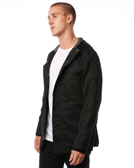 BLACK MENS CLOTHING IMPERIAL MOTION JACKETS - 201703009061BLK