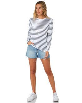 NAVY STRIPE WOMENS CLOTHING ELWOOD TEES - W0115NVSTP