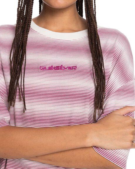 RASPBERRY R BOYFRIEN WOMENS CLOTHING QUIKSILVER TEES - EQWKT03083-MQY6
