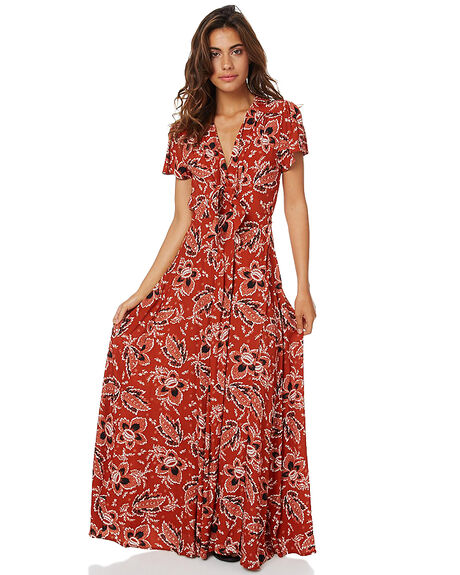 FLOATING BLOOM RUST WOMENS CLOTHING SWELL DRESSES - S8161450FBR