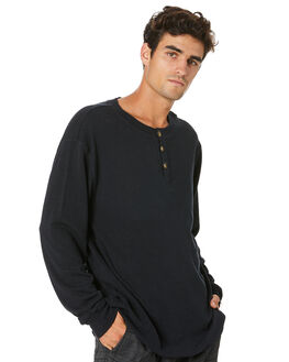 BLACK MENS CLOTHING THRILLS TEES - TA20-133BBLK