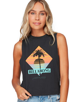OFF BLACK WOMENS CLOTHING BILLABONG SINGLETS - BB-6592182-OFB