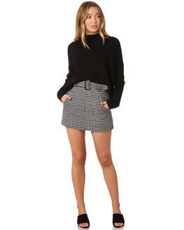 BLACK  IVORY WOMENS CLOTHING SASS SKIRTS - 13722SWSSBLK