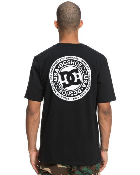 BLACK MENS CLOTHING DC SHOES TEES - UDYZT03528KVJ0