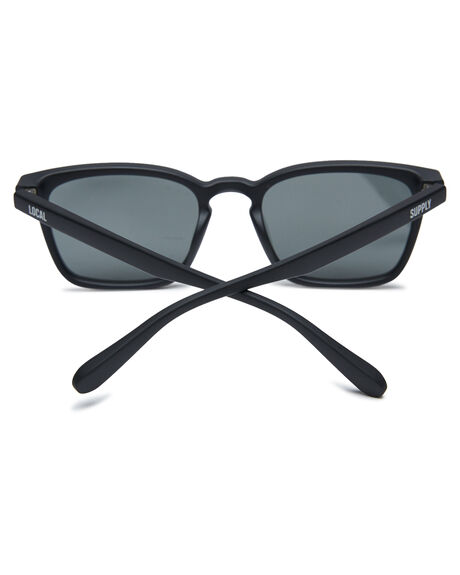 MATTE BLACK MENS ACCESSORIES LOCAL SUPPLY SUNGLASSES - HKGMBLK