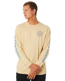 PARCHMENT MENS CLOTHING BRIXTON TEES - 16001PARCH
