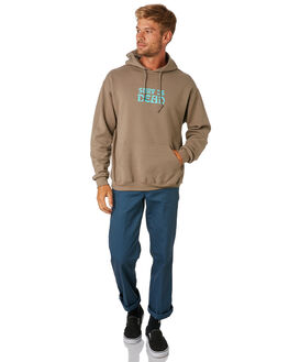 TAN MENS CLOTHING SURF IS DEAD JUMPERS - SD18HD6-03TAN
