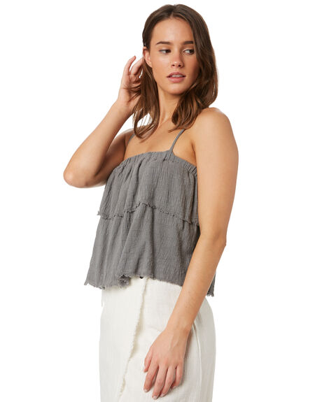 NAVAL GREY WOMENS CLOTHING RUSTY FASHION TOPS - SCL0319NVG