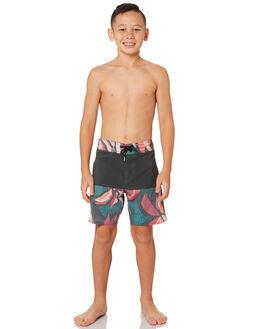 ASPHALT BLACK KIDS BOYS VOLCOM BOARDSHORTS - C0841812ASB