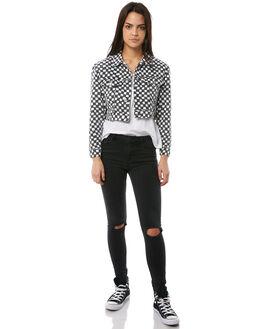 BLACK WHITE WOMENS CLOTHING INSIGHT JACKETS - 5000001015BLKW