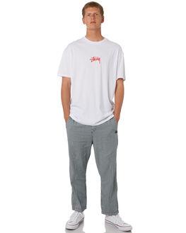 WHITE MENS CLOTHING STUSSY TEES - ST082000WHT