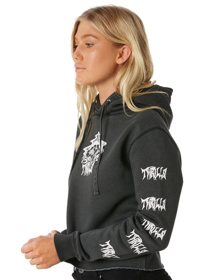 MERCH BLACK WOMENS CLOTHING THRILLS JUMPERS - WTW8-207MBMBLK