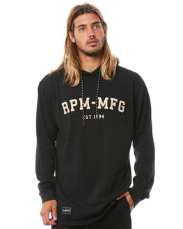 BLACK MENS CLOTHING RPM JUMPERS - 8AMT16ABLK