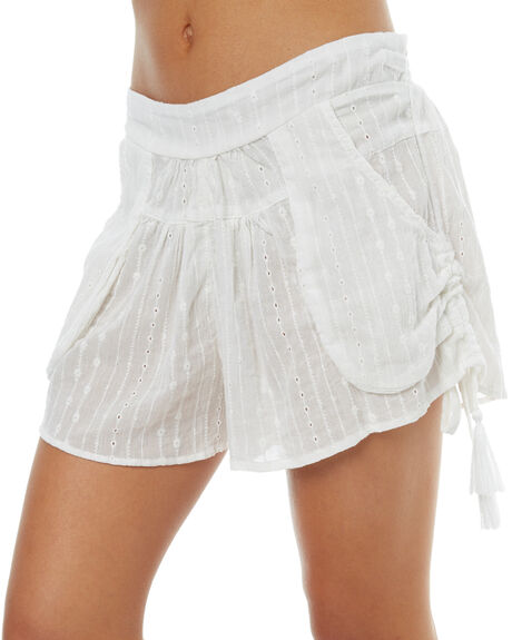 WHITE WOMENS CLOTHING RUSTY SHORTS - SCL0278WHT