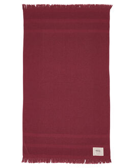 BURGANDY WOMENS ACCESSORIES MAYDE TOWELS - 18ANGBBUR