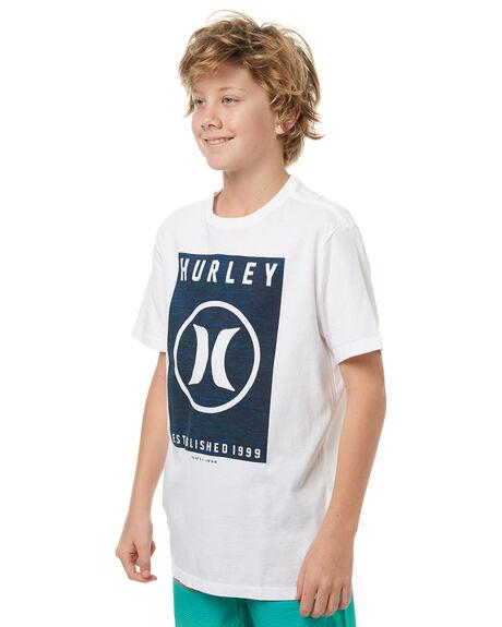 WHITE KIDS BOYS HURLEY TEES - ABTSCVRG10A