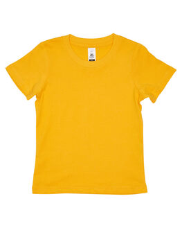 GOLD KIDS BOYS AS COLOUR TOPS - 3005GLD