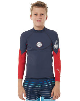 RED SURF RASHVESTS RIP CURL BOYS - WLH6DB0040