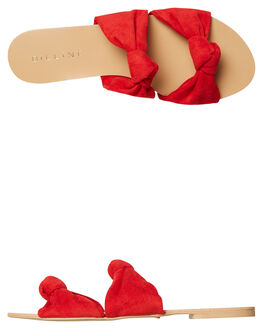 RED SUEDE WOMENS FOOTWEAR BILLINI FASHION SANDALS - S537REDSD