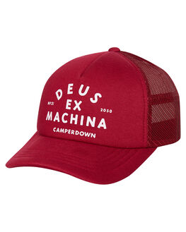 SANGRIA RED MENS ACCESSORIES DEUS EX MACHINA HEADWEAR - DMW97106ASRED