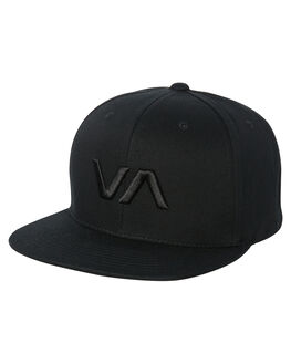 BLACK BLACK MENS ACCESSORIES RVCA HEADWEAR - R361572ABBLK