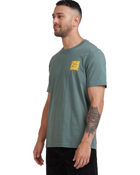 BALSAM GREEN MENS CLOTHING RVCA TEES - R182062-8BG