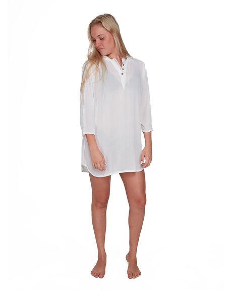 BRIGHT WHITE WOMENS SWIMWEAR ROXY OVERSWIM - ERJX603165-WBB0