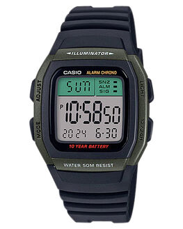GREEN MENS ACCESSORIES CASIO WATCHES - W96H-3AGRN